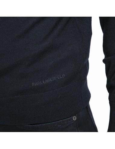 lagerfeld chemise bleu effet patchwork duncan. Black Bedroom Furniture Sets. Home Design Ideas