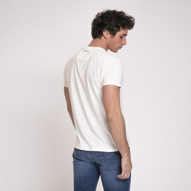 John Varvatos - T-shirt blanc cassé Led Zeppelin