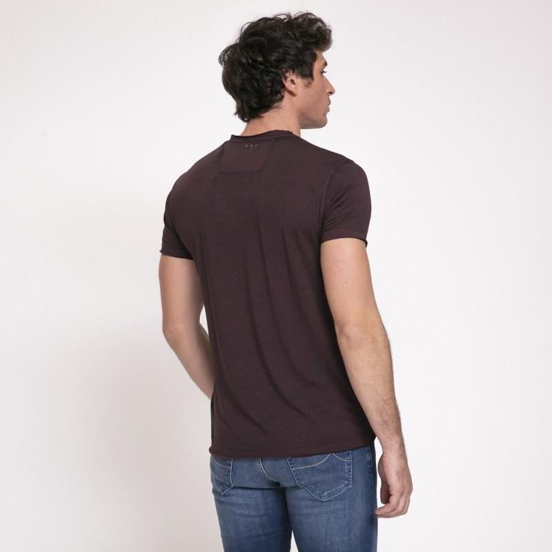 John Varvatos - T-shirt bordeaux Led Zeppelin