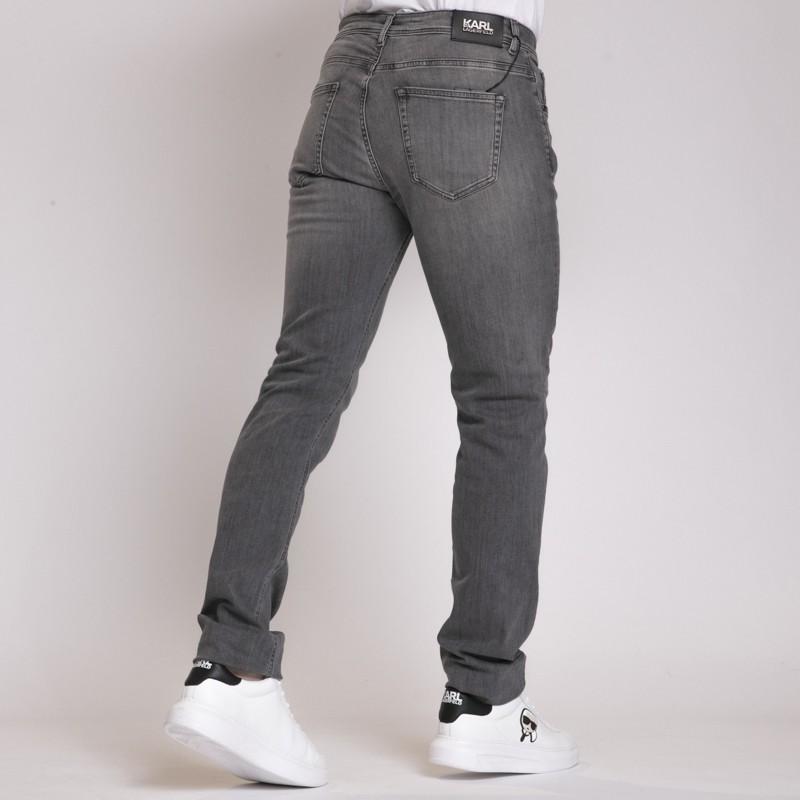 Jeans Karl Lagerfeld gris effet délavé
