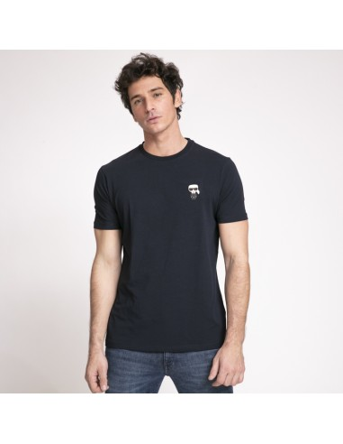 T-shirt bleu nuit Karl Lagerfeld avec icône Karl