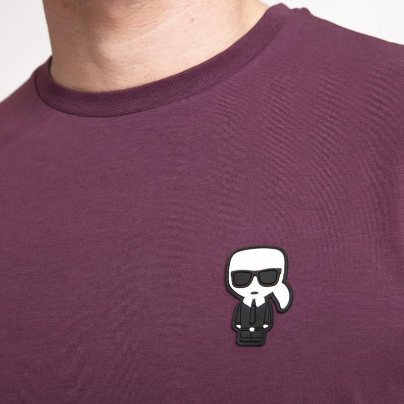 Karl Lagerfeld - T-shirt prune avec icône Karl