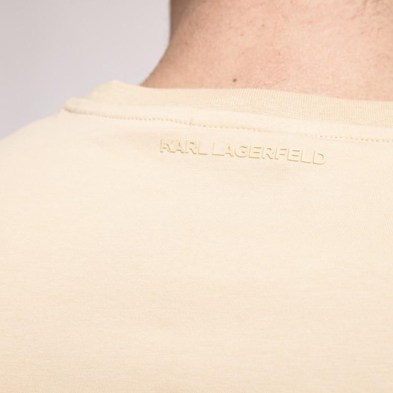 Karl Lagerfeld - T-shirt beige avec icône Karl