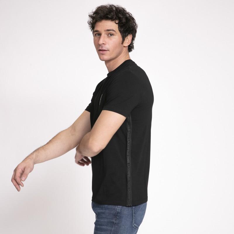 Karl Lagerfeld - T-shirt noir avec icône Karl noire