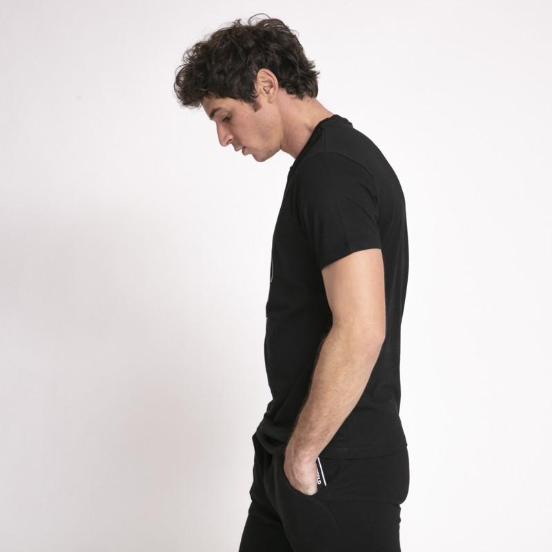 Karl Lagerfeld - T-shirt noir avec icône Karl en relief