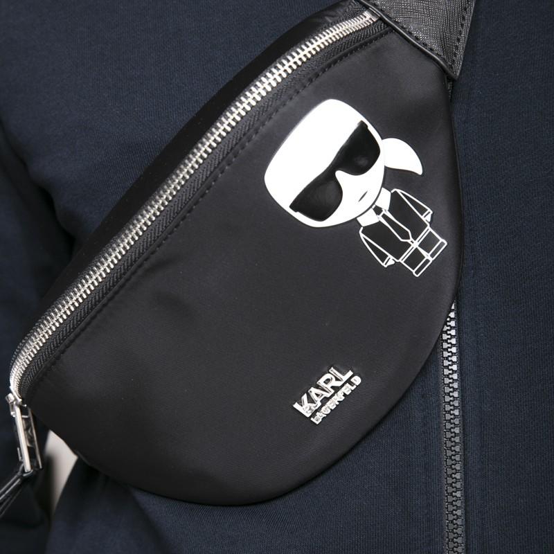 Karl Lagerfeld - Banane noire avec icône Karl