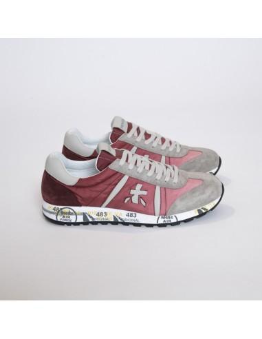Premiata - Sneakers basses LUCY gris et dégradé de rose