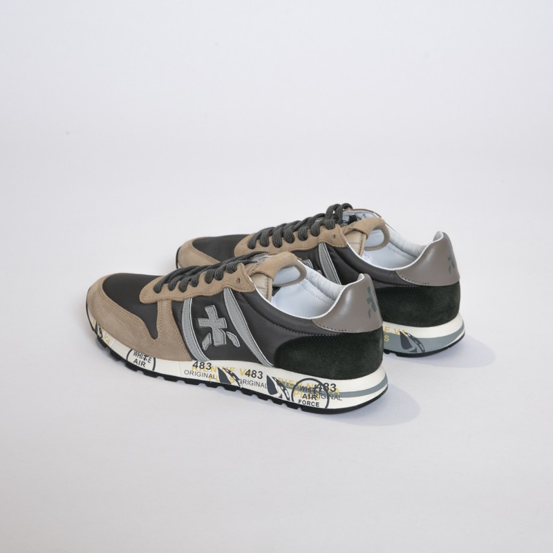 Premiata - Sneakers basses ERIC beige et gris