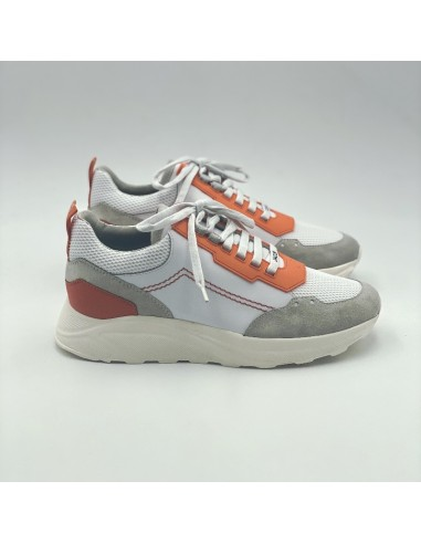 Jacob Cohën - Sneakers basses New Spiridon blanc et orange