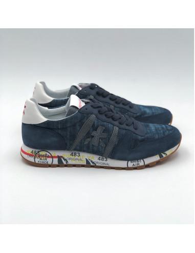Premiata - Sneakers basses jean et bleu marine