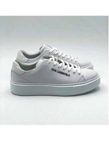 Karl Lagerfeld - Sneakers blanches basses à semelle épaisse
