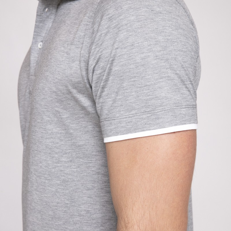 Brunello Cucinelli - Polo gris clair