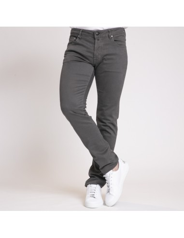 Jacob Cohën - Jeans coupe slim gris anthracite uni